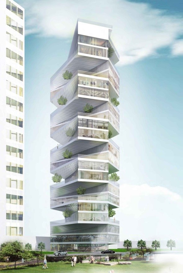 Writhing tower realizado por lycs architecture noticias for Buscador de arquitectura