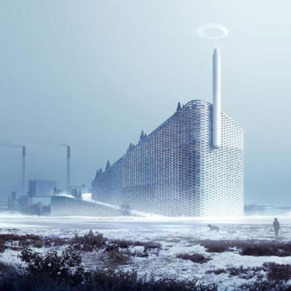 Planta de energ a que funciona como pista de esqui big for Buscador de arquitectura