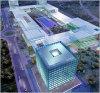 El Distrito C de Telefónica se compone de doce edificios destinados a oficinas, cuatro de ellos de diez plantas situados en los extremos y ocho, de cuatro plantas.