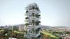 El proyecto se basa en un departamento por nivel con una superficie de 400 m2 y un jardin de 160 m2, rotando los departamentos en un angulo de 90°.